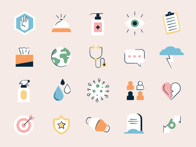 Health Icons icon icon set hand sanitizer eye pandemic mask healthcare line iconset illustration hospital covid health