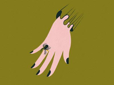 Vectober 20 - Spider procreate hand ring spider victorian vectober inktober feminine texture vintage illustration