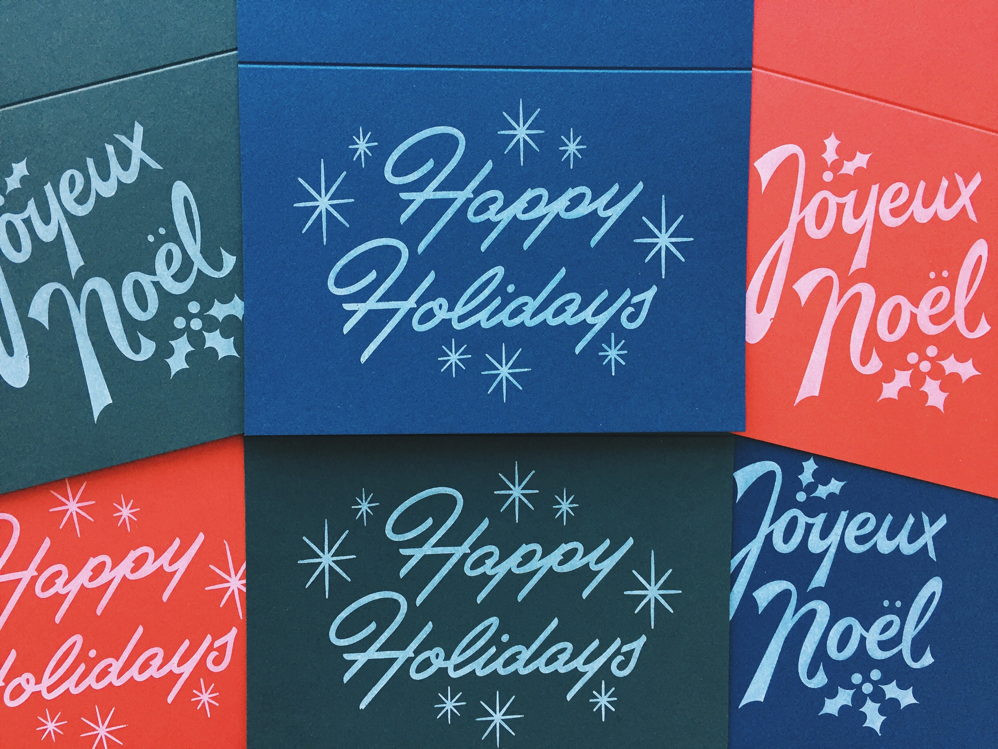 Holiday greeting cards dribbble