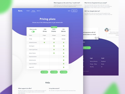 Pricing Plan ui ux concept web design table gradient pricing plan website web plans pricing
