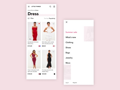 Fashion ecommerce app iphone x mobile concept app ux ui