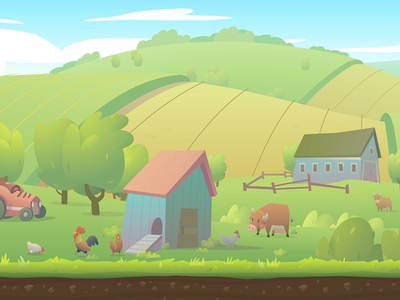 Runner game - Farmland background by Andrey Pryvalov ...