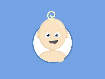 Baby Isaac illustration cute baby