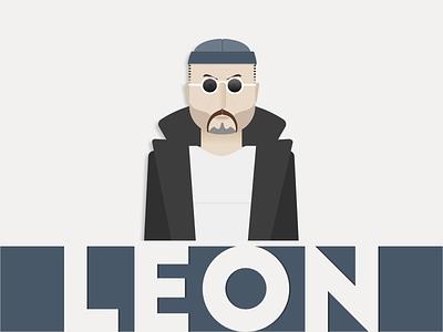 Leon The Professional killer reno 2d character cartoon movie leon