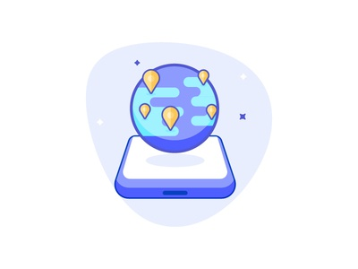 Global Calling outreach mercury pin drop calling global illustration