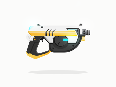 Tracer yellow armory illustration overwatch