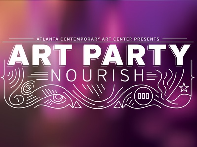 Art Party event identity senses