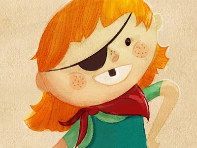aye, aye captain pirate girl eye patch