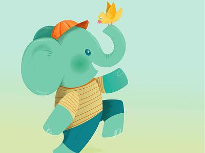 Super Happy Friend Time friendship happy skipping elephant