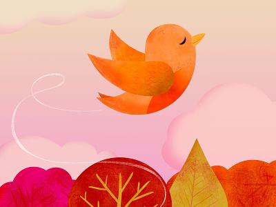 Little Bird bird flying autumn