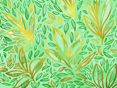 gold leaf leaves leaves gold watercolor pattern