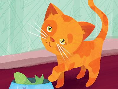 Dinnertime for Kitten kitten