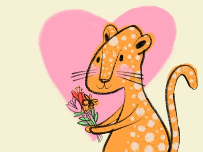 Sweet Cheetah sweetness heart flowers cheetah
