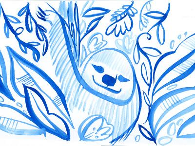 Sloth  sloth watercolor
