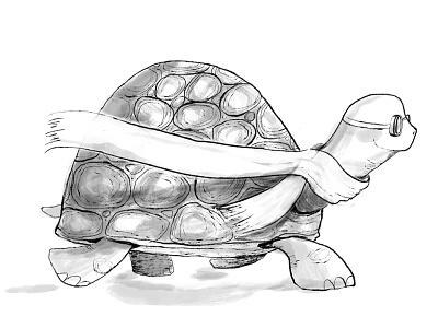 Swift Turtle scarf swift ink turtle