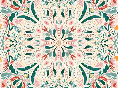 floral kaleidoscope kaleidoscope repeat pattern floral design pattern
