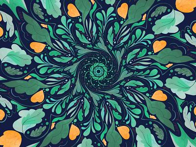 circular floral pattern radial symmetry leaves floral pattern kaleidoscope