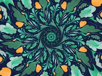 circular floral pattern