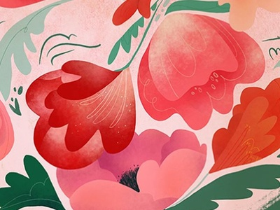 bloom and grow procreate detail illustration flowers