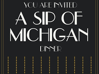 Sip of Michigan event program