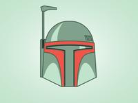 Boba Fett simple vector illustration star wars