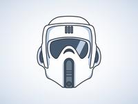 Scout Trooper simple simple design stormtrooper star wars vector vector illustration illustration