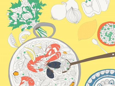 Paella Coloring Page- Colored In