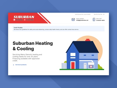 Heating and cooling company webflow cooling heating