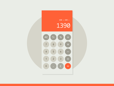 Calculator dribbble dailyui omron braun vintage retro calculator dailyui 004 100 daily ui daily 100 app sketch design ux ui