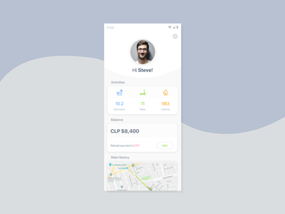 Profile route ride scooter lime profile card app profile persona user android ios dribbble app profile 100 daily ui daily 100 sketch design ux ui