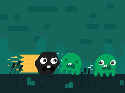 Dark Matty cute breakout arcade monsters space ios game
