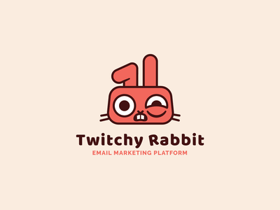 ThirtyLogos #3: Twitchy Rabbit illustration logo email marketing branding thirtylogoschallenge thirtylogos logo design
