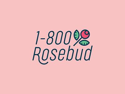 1-800-Rosebud vector logo branding brand thirtylogoschallenge thirtylogos