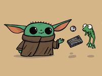 Baby Yoda yoda mandalorian doodle