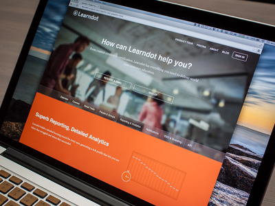 Learndot Product Page ui ux web scss toronto
