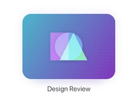 A little logo for our internal design reviews abstract colourful gradients shapes javascript design review logo