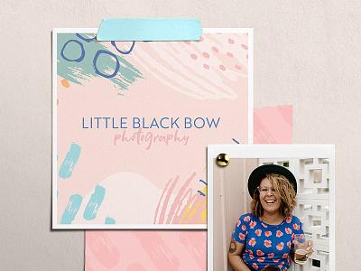 Little Black Bow Photography Logo colourful logo pattern colourful logo type branding