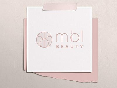 MBL Beauty Logo logotype icon pink typography logo type minimalism logo branding