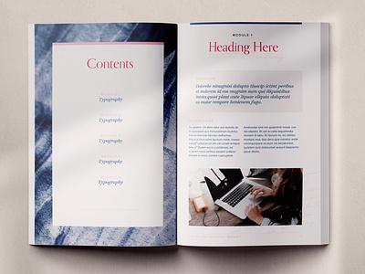 Workbook Design Template - Ruby Marsh indesign template indesign ebook layout layout magazine workbook design ebook ebook design workbook