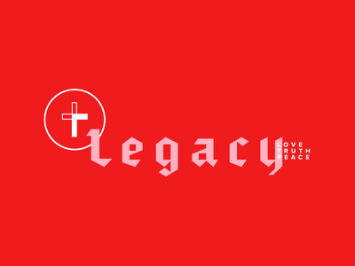 Legacy Youth Group Brand millennial pink millennial youth church cross icon brand and identity pink red logo brand youth group adventist sda