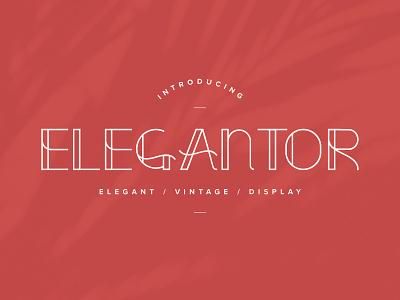 Elegantor Font typography design typography uppercase display display font vintage vintage font elegant elegant font type design logo type font design font logotype