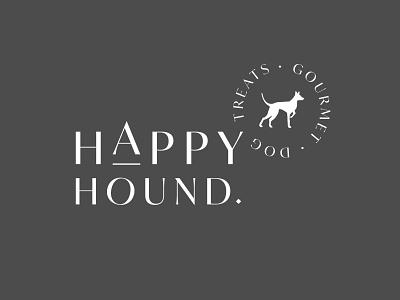 Happy Hound - Gourmet Dog Treats logotype type minimalism vector design illustration branding logo gourmet dog treats dog logo dog stamp happy hound