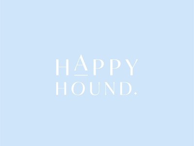 Happy Hound - Logo Type logotype logo type gourmet dog treats dog logo dog hound happy typography minimalism branding logo