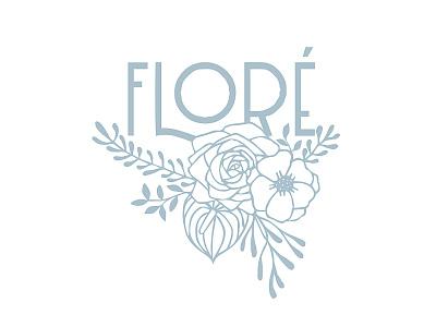 Floral Logo Design handdrawn florals flore floral logos design illustration branding logo floral floral logo florist