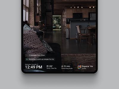 Re-flect Smart Mirror Stationary UI interface data smart home smarthome smart dashboard concept mirror screen ui  ux ui