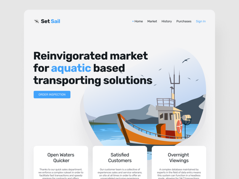 Set Sail Market Platform Landing Page webdesign landingpage ui uiux