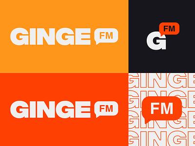 Logo, Brand & Identity for Ginge FM banner fm colour logo indentity branding brand