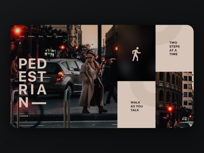 Pedestrian Landing Page landing page clean editorial typography grid layout site