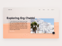 Informational Travel Website Concept