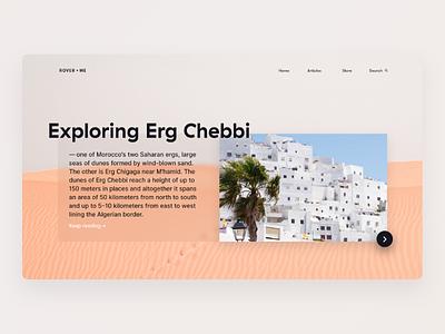 Informational Travel Website Concept ui explore morocco travel site